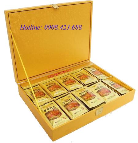 Đông trùng hạ thảo Hàn Quốc hộp gỗ 60 gói x 30ml