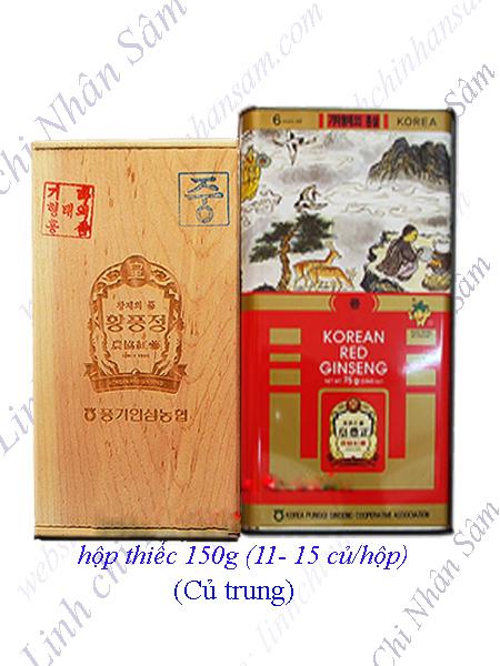 Hồng Sâm Khô Nguyên Củ Punggi 150g  (11-15 củ/hộp)