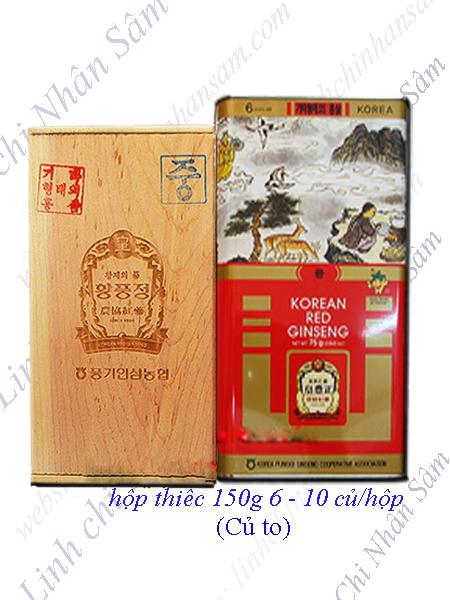 Hồng Sâm Khô Nguyên Củ Punggi 150g  (6-10 củ/hộp)