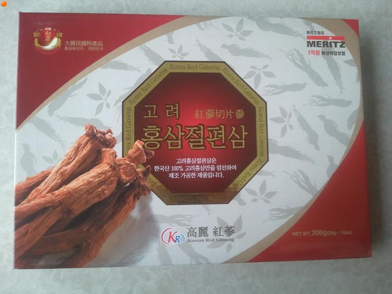 Hồng Sâm Lát Tẩm Mật Ong Hiệu MERITZ Hàn Quốc