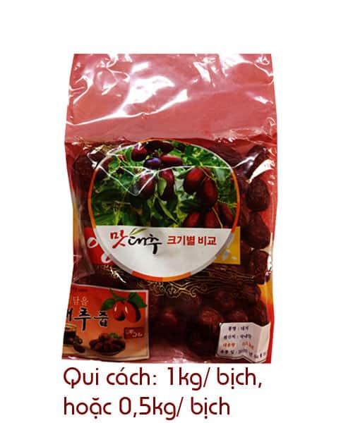 Táo đỏ sấy khô Hàn Quốc